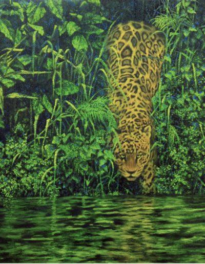Stefano Menegazzo - Un Giaguaro, omaggio a Salgado - olio su tela, 80 x 60cm