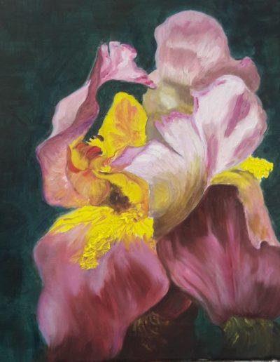 Lidia Gumiero, IOrchidea, olio su tela, 2017