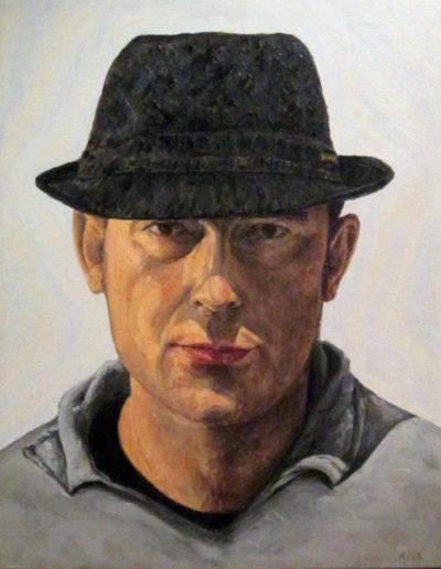 Riccardo Giolo, Autoritratto, olio su tela, 40x50 cm, 2012