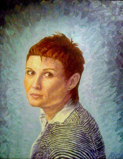 Riccardo Giolo, Elena, olio su tela, 50x60 cm, 2012