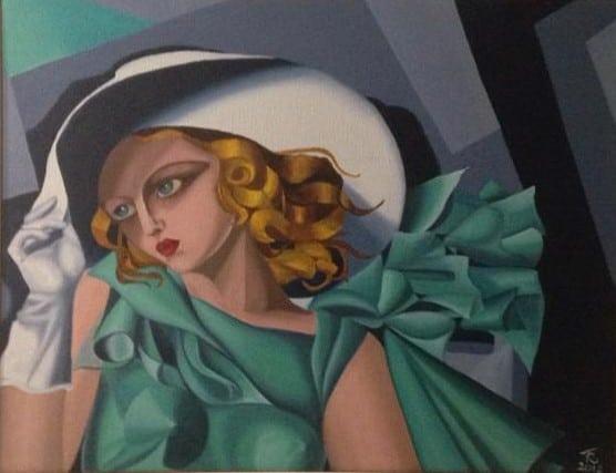 Tania Ravani, Omaggio a Tamara, olio su tela, cm40x30, 2018